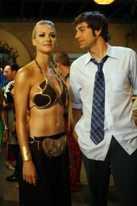 Chuck and Sarah at the Halloween party.