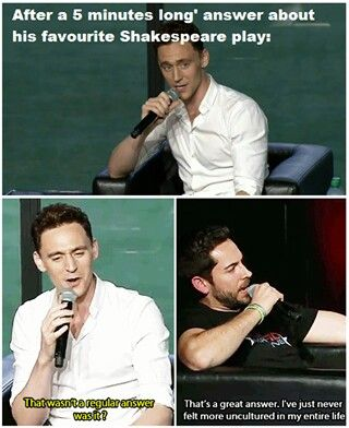 Tom makes Zachary Levi feel uncultured.