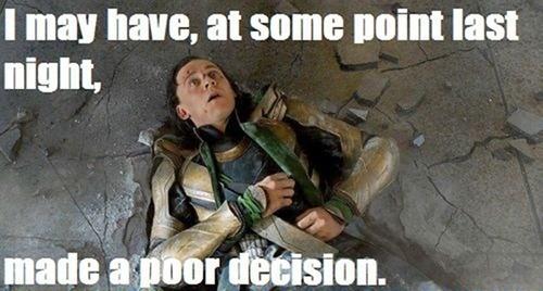 Poor decisions