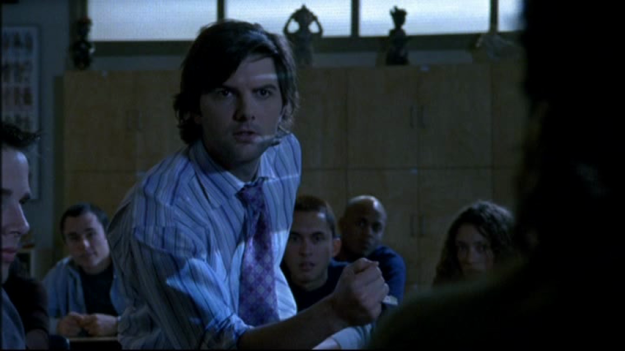 Adam Scott as Mr. Knight.
