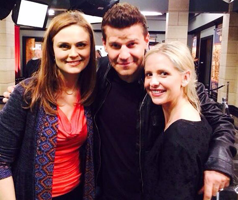 Sarah Michelle Gellar, David Boreanaz, Emily Deschanel, Buffy, Bones