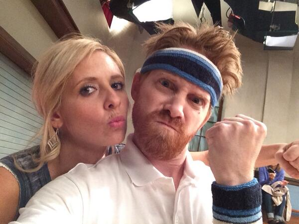 Sarah Michelle Gellar, Seth Green, Buffy