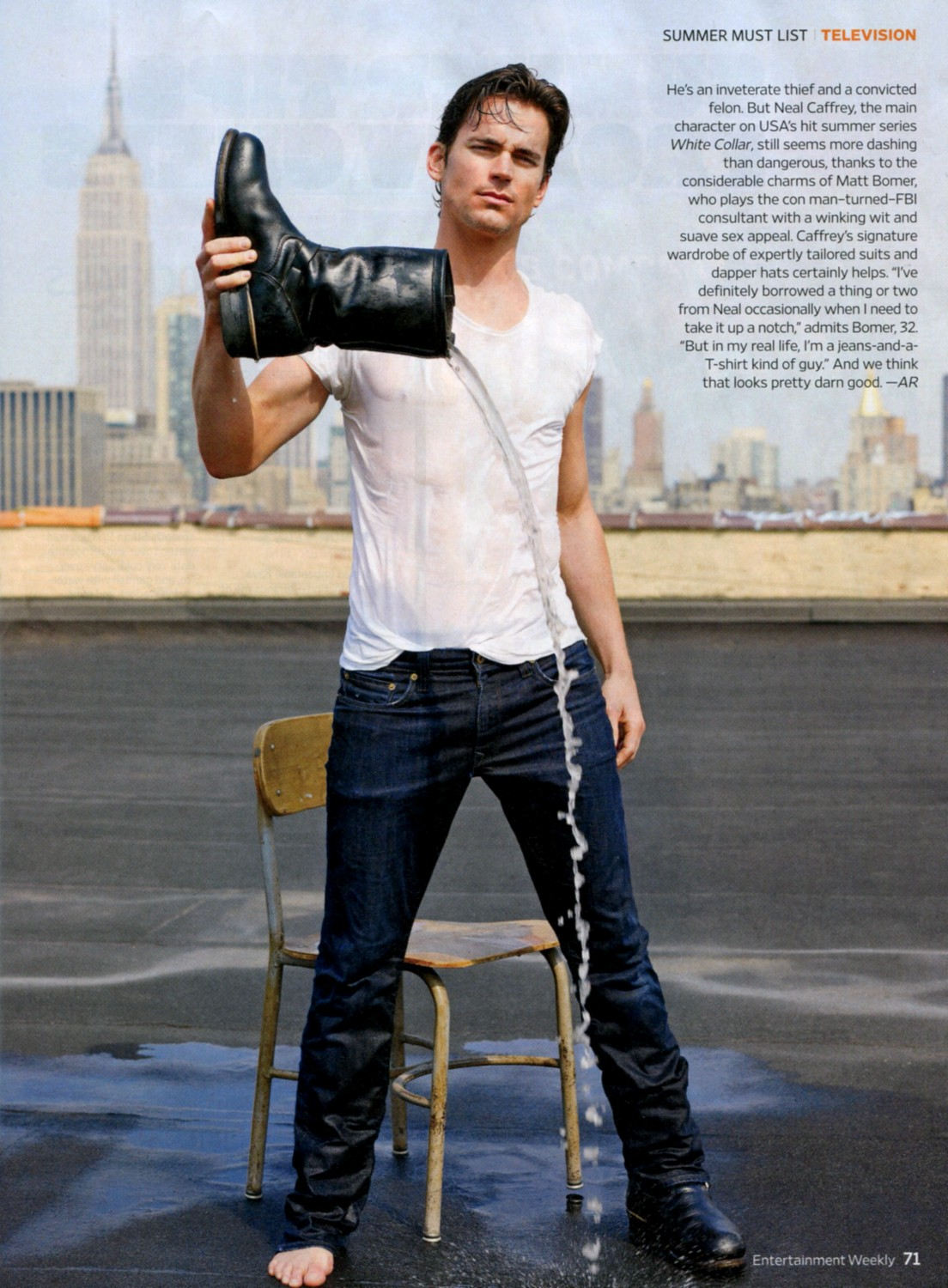 Matt Bomer, Entertainment Weekly