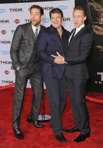 Zachary Levi, Tom Hiddleston, Nathan Fillion, Thor