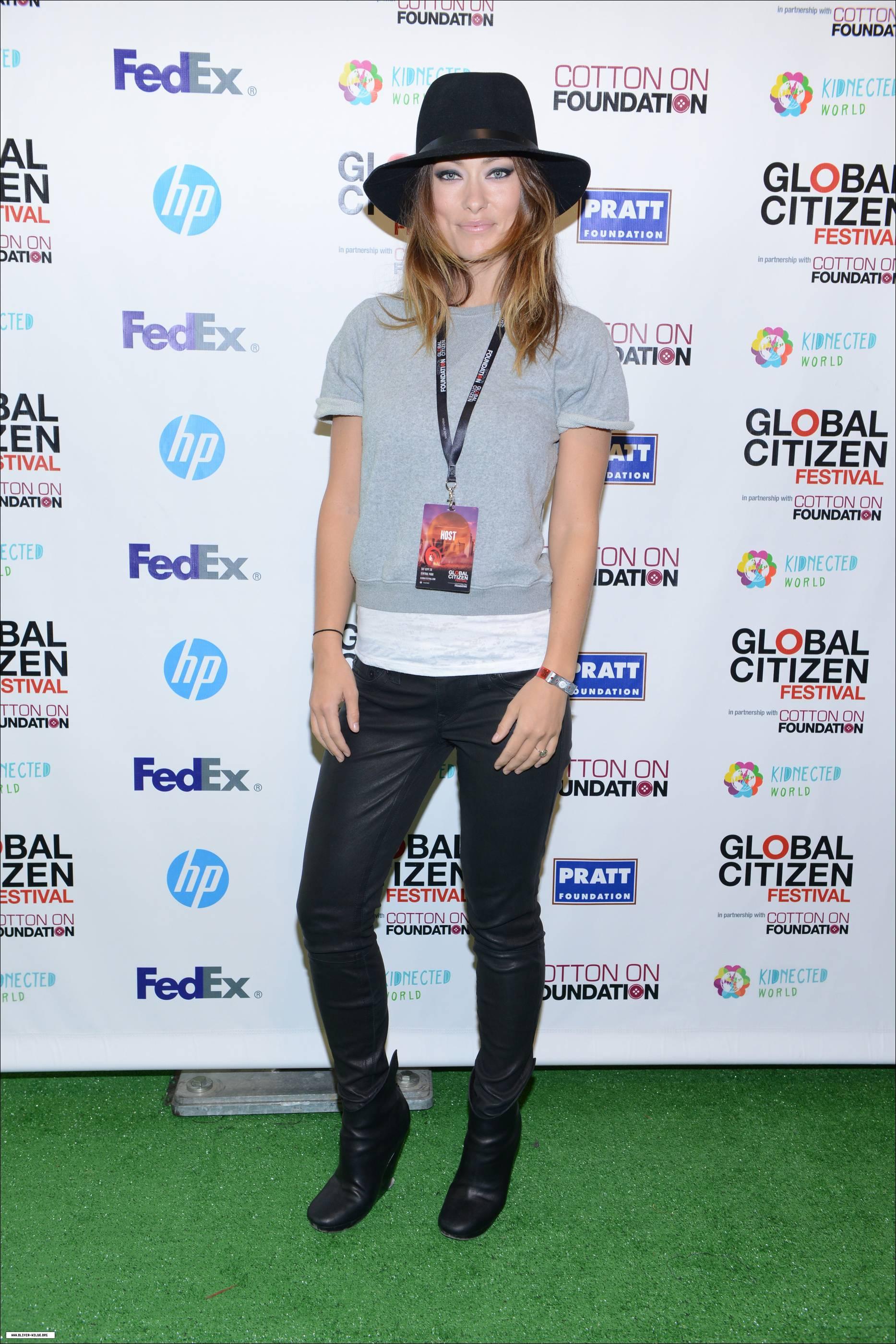 Olivia Wilde, Global Citizen Festival