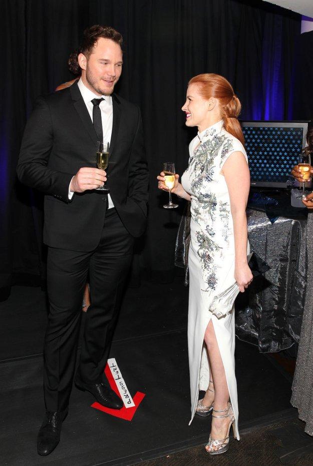 Jessica Chastain, Chris Pratt