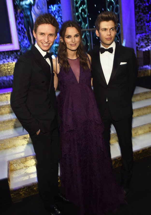 Keira Knightley, Eddie Redmayne, James Righton