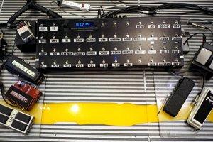 Edge's pedal board.