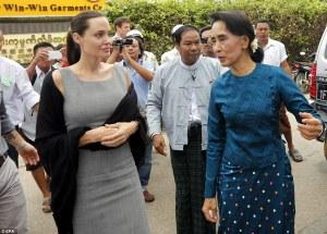 Angelina Jolie, Aung Suun Suu Kyi