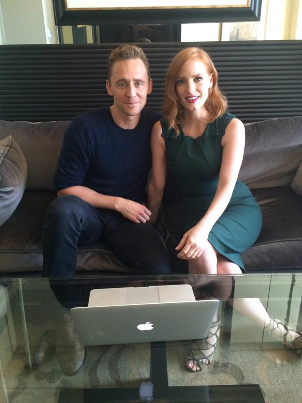 Tom Hiddleston & Jessica Chastain Answer Fan Questions # ... Jessica Chastain Twitter