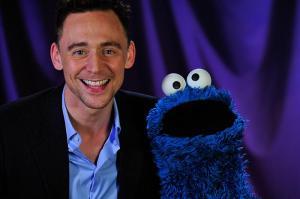 Tom Hiddleston, Cookie Monster, Sesame Street