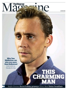 Tom Hiddleston, The Observer