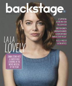 Emma Stone, Backstage
