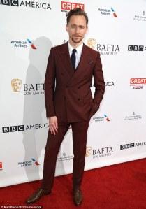Tom Hiddleston, BAFTA Tea LA