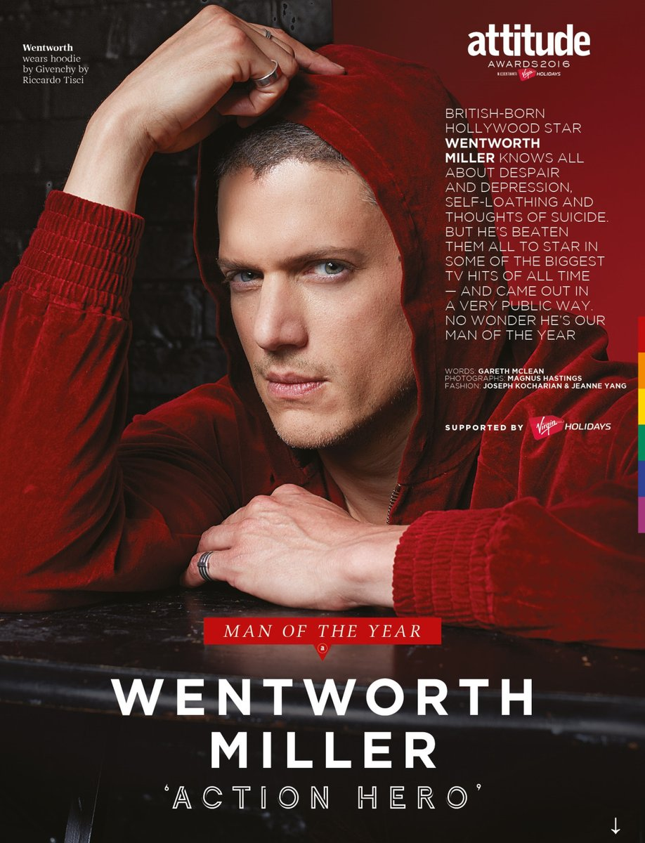 Image result for wentworth miller attitude magazine