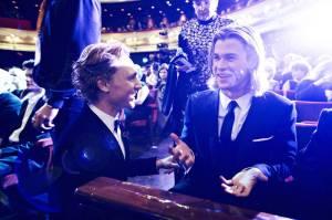 Tom Hiddleston, Chris Hemsworth, BAFTAs