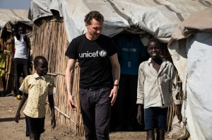 Tom Hiddleston, South Sudan, Unicef