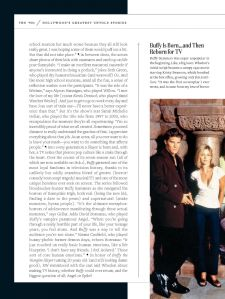 Sarah Michelle Gellar, Buffy Summers, David Boreanaz, Angel, Buffy the Vampire Slayer, Entertainment Weekly