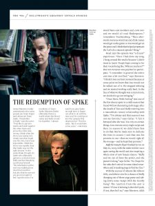 James Marsters, Spike, Buffy the Vampire Slayer, Entertainment Weekly