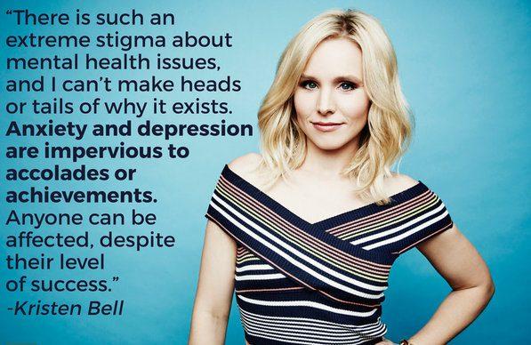 Image result for Kristen Bell Mental health campaigner